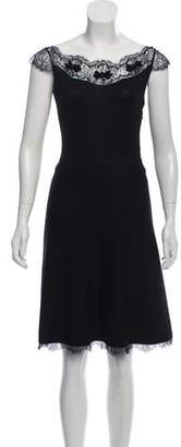 Christian Dior Lace-Accented Knit Dress
