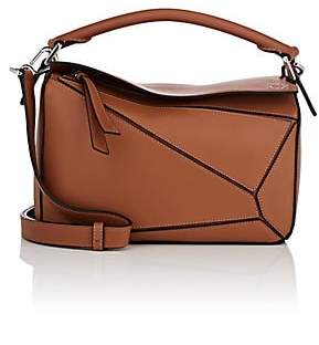 Loewe Women's Puzzle Small Leather Shoulder Bag - Beige, Tan