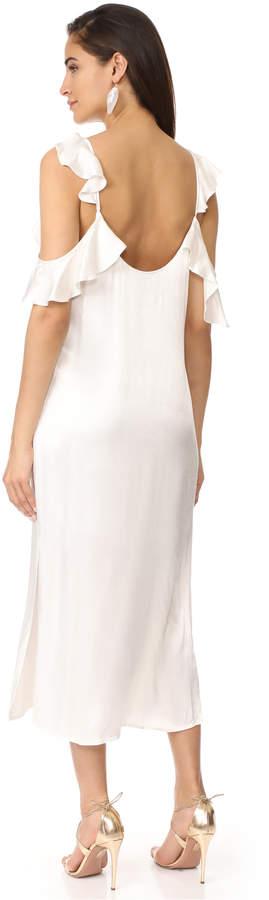 WAYF Costa Ruffle Cold Shoulder Slip Dress 3
