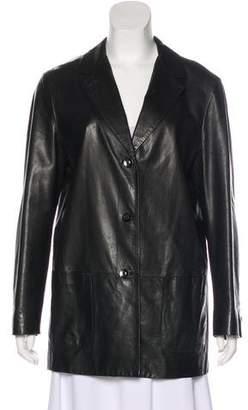 Loro Piana Button-Up Leather Jacket