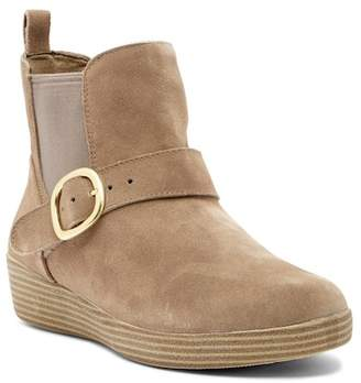 FitFlop Super Buckle Suede Chelsea Boot