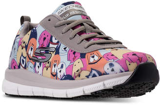 Skechers Women's Work Relaxed Fit: Comfort Flex Hc Pro - Waggey Slip Resistant Walking Sneakers from Finish Line