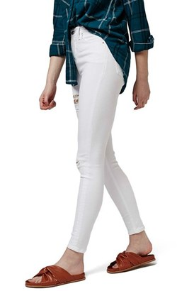 Petite Women's Topshop 'Jamie - Super Ripped' High Waist Skinny Jeans $80 thestylecure.com