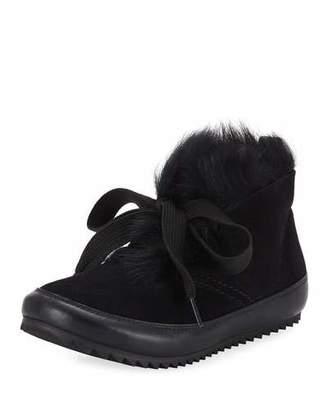 Pedro Garcia Jain Lace-Up Fur Sneakers