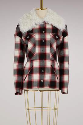 Moncler Gamme Rouge Luna check wool jacket
