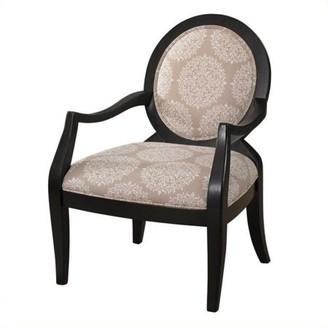 Powell Furniture Batik Pearl Fabric Arm Chair, Black Frame
