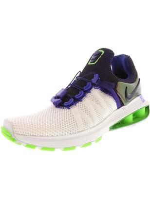 20acf060548 Nike Women s Shox Gravity Blue Force Ankle-High Running Shoe ...