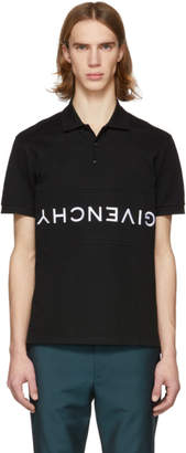 Givenchy Black Reverse Logo Polo