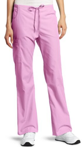 Dickies Scrubs Women's Tall Back Elastic Cargo Pant, Candy Orchid, X-Large