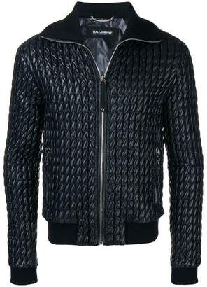 Dolce & Gabbana padded leather jacket