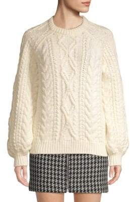 Maje Twisted Cable-Knit Sweater