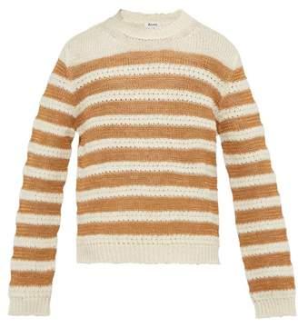 Acne Studios Breton Striped Sweater - Mens - Beige