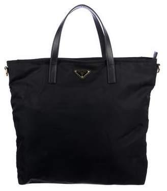 7b253a71982e Prada Saffiano-Trimmed Tessuto Shopping Tote
