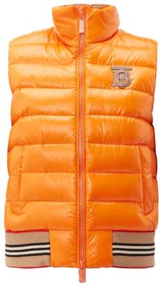 Burberry Tb Logo Quilted Technical Shell Gilet - Womens - Orange