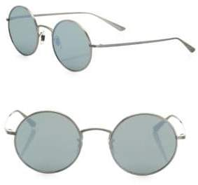 Oliver Peoples The Row For After Midnight 49MM Mirrored Round Sunglasses