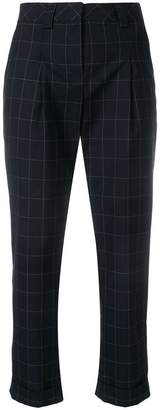 Eleventy cropped checked trousers