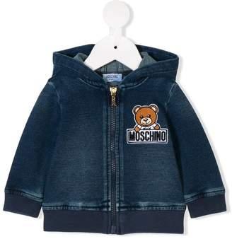 Moschino Kids teddy logo hoodie