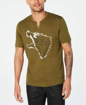 INC International Concepts I.n.c. Men's Studded Wolf T-Shirt, Created for Macy's