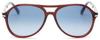 Persol Men's Brow Bar Aviator Sunglasses, 59mm