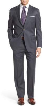 Hart Schaffner Marx New York Classic Fit Stripe Wool Suit