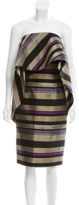 Christian Siriano Striped Strapless Dress