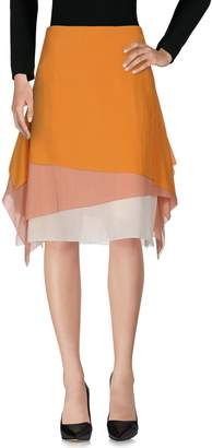 Cédric Charlier Knee length skirts - Item 35340998WE