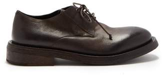Marsèll Cetriolo Leather Derby Shoes - Mens - Dark Brown