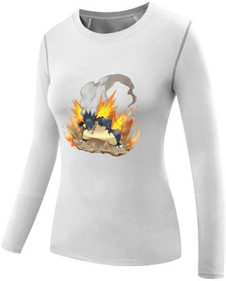 Pokemon Sysuer Tank Sysuer Lady Cartoon Cool Mega Typhlosion Long Sleeve Training Tshirt Tee