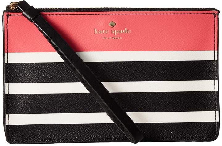 Kate Spade New York - Hyde Lane Stripe Pop Leila Wallet