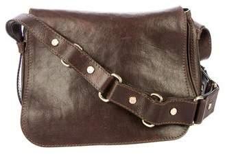 Celine Leather Flap Crossbody Bag
