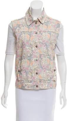 Tibi Floral Button-Up Vest