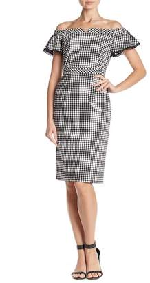 Nanette Lepore NANETTE Off-the-Shoulder Gingham Dress