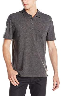 7 For All Mankind Men's Short Sleeve Pocket Polo Shirt