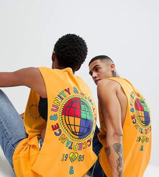 Asos Design X Glaad& Vest With Back Print