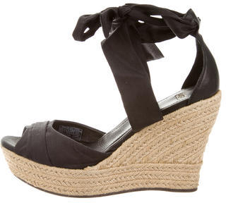 UGG Australia Lucianna Espadrille Wedge Sandals $95 thestylecure.com
