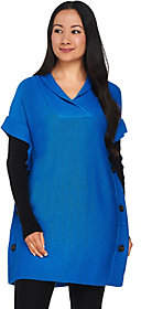 Nobrand NO BRAND Belle by Kim Gravel V-neck Poncho with KnitLong Sleeves