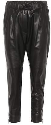 Brunello Cucinelli Leather trackpants