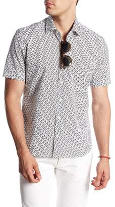 Original Penguin Culturata Short Sleeve Print Contemporary Fit Woven Shirt