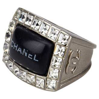 Chanel Vintage Silver Metal Ring