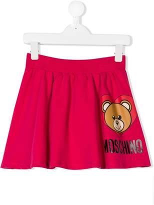 Moschino Kids Teddy Toy print skirt