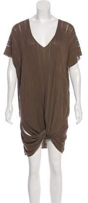 Agnona Short Sleeve Knit Dress
