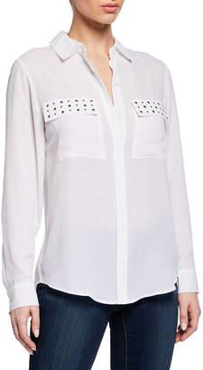 fa5746e8b5b04f MICHAEL Michael Kors Studded Button-Down Shirt