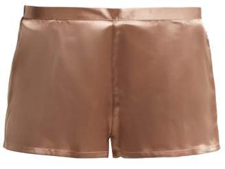 La Perla Silk Satin Pyjama Shorts - Womens - Light Pink