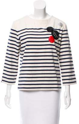 Marc by Marc Jacobs Long Sleeve Striped Top