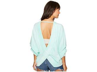 Free People Back It Up Pullover Women's Long Sleeve Pullover