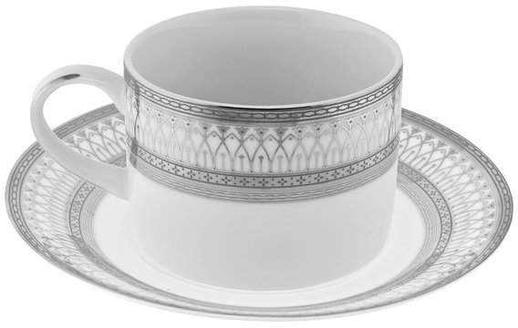 10 Strawberry Street Iriana Can Cup and Saucer, Set of 6