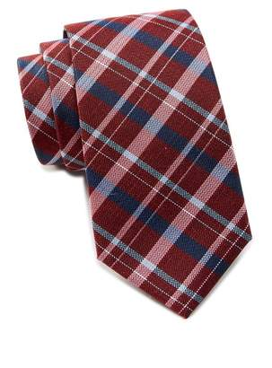 Ben Sherman Kensleigh Plaid Silk Tie
