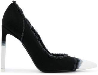 Tom Ford frayed pointed toe pumps