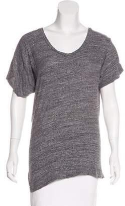 Etoile Isabel Marant Short Sleeve Asymmetrical T-Shirt