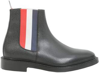 Thom Browne Chelsea Boots With Elasticated Logo